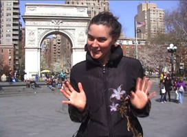 Rebecca Zook in Washington Square Park