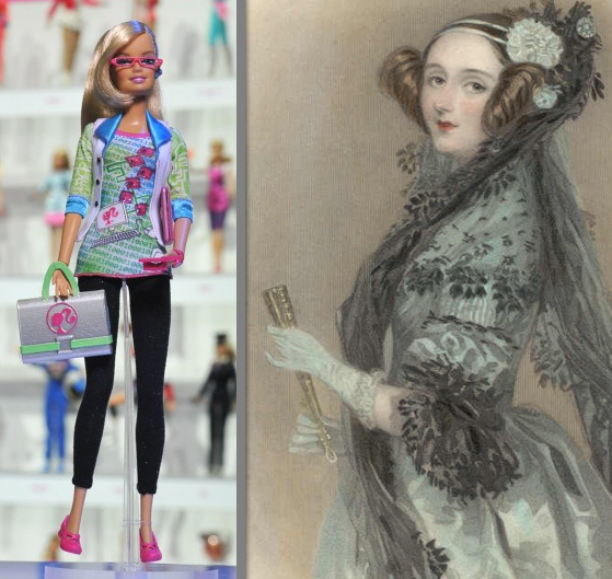 "Coder Barbie and Ada Lovelace, the world's first computer programmer - which one is more ""realistic""?"